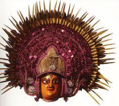 elaborate mask of goddess durga from puruliya