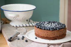 rezept schokoladenmousse torte mit Blaubeeren