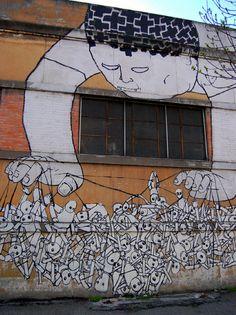 Les peintures murales de BLU BLU peinture murale graffiti bologne design art