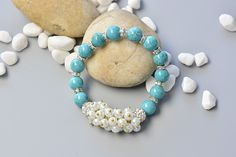 Wanna make turquoise beaded bracelet yourself? Look here, today I will share a simple beading bracelet with you all. Hope you will like it and have a nice try! Supplies you'll need in making the chic...