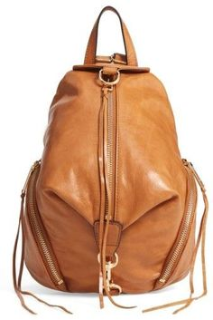 Nordstrom - $100  off - Rebecca Minkoff Medium Julian Leather Backpack - Brown. Not too big, not too small. *affiliate