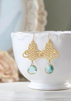 Boucles d/'Oreilles Metalique Bleu Géométrique Original Soirée Mariage Cadeau DD8
