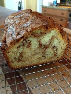 Amish Cinnamon Bread- this one is so GOOD you should probably make TWO. 17063 Batter: 1 cup butter, softened 2 cups sugar 2 eggs 2 cups buttermilk or 2 cups milk plus 2 tablespoons vinegar bread Amish Cinnamon Bread - Cake Recipes, Dessert Recipes, Desserts, Quick Recipes, Cooking Recipes, Healthy Recipes, Yummy Recipes, Pudding Recipes, Amish Friendship Bread