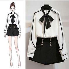 ✔ Fashion Drawing Outfits Art Source by dress sketches Kawaii Fashion, Cute Fashion, Look Fashion, Trendy Fashion, Fashion Ideas, Fashion Styles, Fashion Art, Komplette Outfits, Korean Outfits