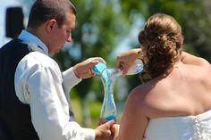 Meggan & Jake, Married! Westridge Golf Course, Neenah WI. Photo by Meghan Straveler & Taryn Hoyt. #wedding #unity