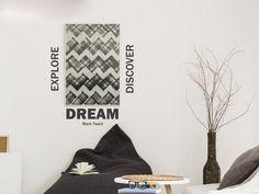 Wandtattoo Explore Dream Discover mit Design Bilderrahmen