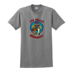 Los Pollos Hermanos Chickn Brothers Short Sleeve Inspired T-shirt Breaking Bad AMC TV show tee Full Color XL Sport Grey