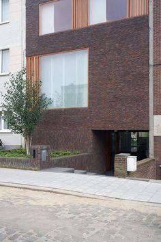 Appareillage brique, traitement des tableaux - Bulk Architecten