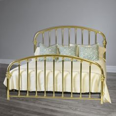 We've been creating custom Brass Beds by hand since Each bed is guaranteed for two generations making our Brass Beds the highest quality beds in the world. Brass Bed, American Manufacturing, Bedding Shop, Antique Furniture, Cribs, Beds, Bedrooms, Antiques, Gold