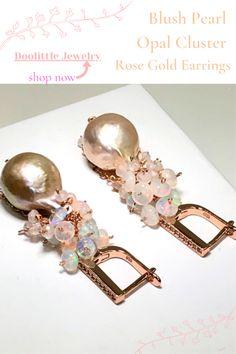 Rose Gold Jewelry, Gemstone Jewelry, Wedding Earrings, Custom Jewelry, Earrings Handmade, Special Occasion, Pearl Earrings, Gemstones, Pearls