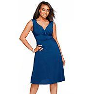 Sleeveless A-Line Dress with Slim Wear