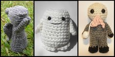 Doctor Who amigurumis - Mini Weeping Angel, Adipose, Mini Ood