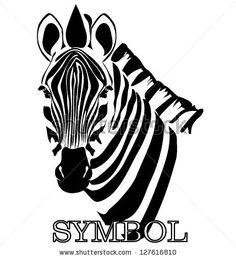 zebra symbol vector - stock vector