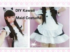 Kawaii Anime Cosplay DIY - How to Make Neko Maid Cafe Costume/outfits(Easy& adorable) - YouTube