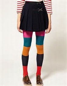 Colorblock Tights