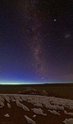 starry sky of andes