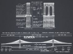 restoration hardware inspired blueprint art blueprint art brooklyn bridge blueprint vintage rustic new york brooklyn bridge architectural blueprint drawing art print poster malvernweather Images