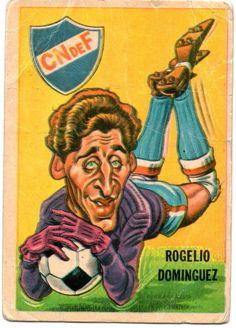 figurita tarjeton futbol sport 1967 Rogelio Dominguez #4 - Club Nacional de Futbol Montevideo Uruguay - Real Madrid