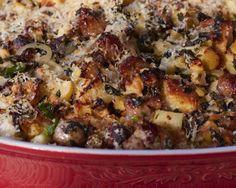 Recipe: Sausage, Spinach, and Apple Strata by Giada De Laurentiis