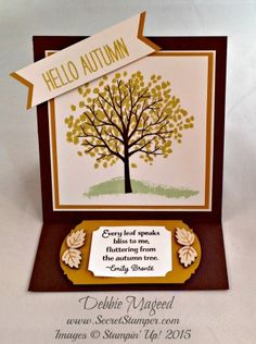 By Debbie Mageed, Stampin Up, Sheltering Tree, Cheer All Year