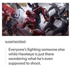 I noticed this too!! XD Poor Hawkeye!!