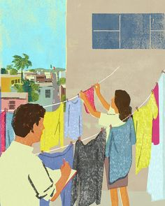 #illustration #illustrator #love #laundry #love #laundryday #mexico #detergents #art #editorial #happy #woman #report #reportage #reporter #イラスト