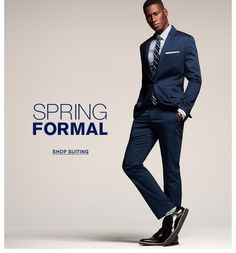 I so want a navy suit! And those shoes... and the socks!