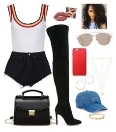 """""""~In my feelings~"""" by thatgirlnele ❤ liked on Polyvore featuring SO, Cartier, Gianvito Rossi, Natalie B, Christian Dior, Jennifer Zeuner and Lime Crime"""