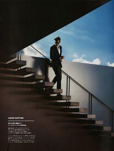Greg Nawrat Models Luxurious Eveningwear Styles for GQ Japan