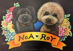 「NOA・ROY」NOANOA CHALKART WORKS オーダーのチョークアート作品。