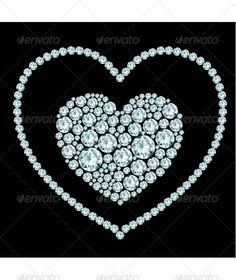 Heart Diamond Composition