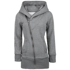 Casual Zipper Solid Color Plus Size Long Sleeves Hoodie For WomenSweatshirts & Hoodies   RoseGal.com