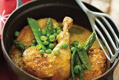 Pollo guisado con verduras y queso manchego #recipes #cuisine