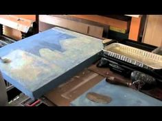 Randy L Purcell demonstrates how to apply beeswax to panel and then how to smooth the beeswax surface in preparation for the ink transfer. See his paintings at www.randylpurcell.com