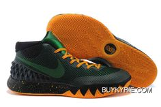 Authentic Nike Kyrie 1 Shoes Black Pine Green Yellow New Style
