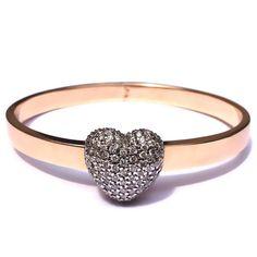 Beautiful, $7,965 heart... or heartbreak    Diamond Heart Universe Bracelet by Nicole Trunfio