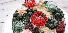 Um jardim no prato: artista transforma rosas e cactos em decoração de bolo