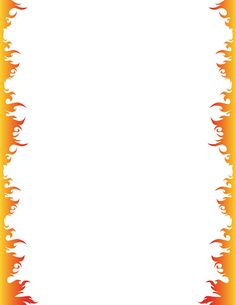 Fire page border. Free downloads at http://pageborders.org/download/fire-border/
