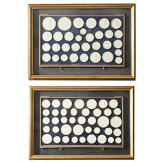 Pair of Framed Italian Grand Tour Intaglios | From a unique collection of antique and modern shadow boxes at https://www.1stdibs.com/furniture/wall-decorations/shadow-boxes/