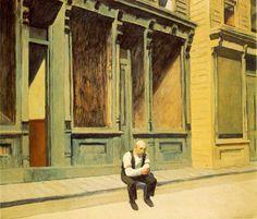 edward hopper...........he always evokes a surreal sterile sense of isolation..............