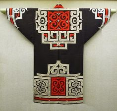Traditional Ainu embroidered coat. Northern Japan.
