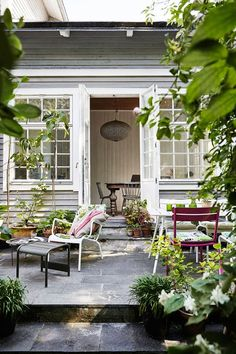 A SWEDISH WOODEN HOUSE SURROUNDED BY ROSES | style-files.com | Bloglovin'