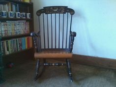 Hitchcock Early American Style Lock 1776 Rocking Chair