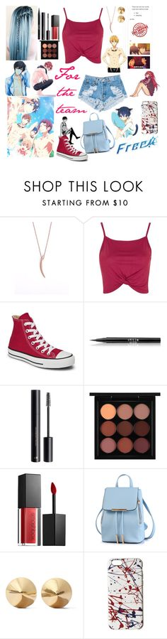 """""""Anime of the week- Free!"""" by potato-swan77 ❤ liked on Polyvore featuring Topshop, Levi's, Converse, Stila, H&M, MAC Cosmetics, Smashbox, Eddie Borgo and Marc Jacobs"""