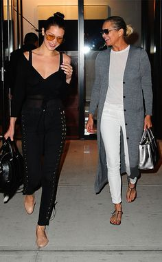 Bella Hadid & Yolanda Hadid from The Big Picture: Today's Hot Pics  The mother-daughter duo is spotted full of smiles around town in Soho, NYC.