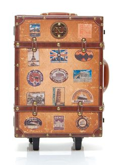 Amazon.com: 15 Retro Vintage Travel Suitcase Stickers - Regular ...