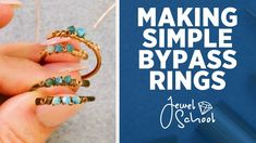 How to Make Simple Bypass Rings Diy Jewelry Rings, Wire Jewelry, Jewelry Ideas, Beaded Jewelry, Jewelry Kits, Copper Jewelry, Jewlery, Diy Rings Tutorial, Wire Wrapped Rings