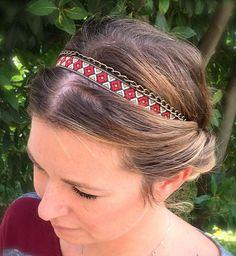 Headband Beandeau pour cheveux ruban éthnique par ValouParisIzmir