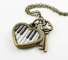 So cute!  The Keys to My Heart Hand Painted Heart by TuckooandMooCow on Etsy, $25.00
