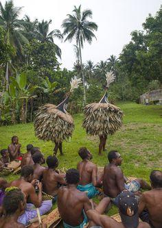 Tubuan Dance With Duk Duk Giant Masks, Rabaul, East New Britain, Papua New Guinea   © Eric Lafforgue www.ericlafforgue.com
